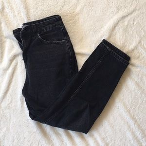 Topshop Petite Charcoal Mom Jeans